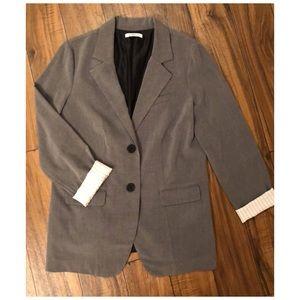 Grey oversized blazer, size L